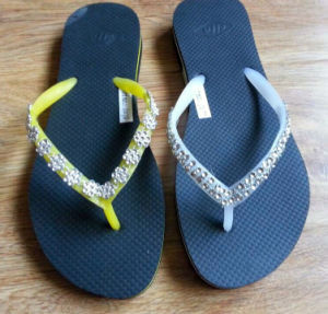 Latest Lady Beach Sandal EVA Flip Flops Slippers (BL15-1) pictures & photos