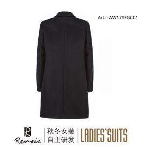 OEM Winter Woolen Women′s Dust Coat pictures & photos