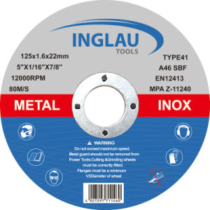 125X1.6X22.2mm Extra Thin Cutting Discs pictures & photos