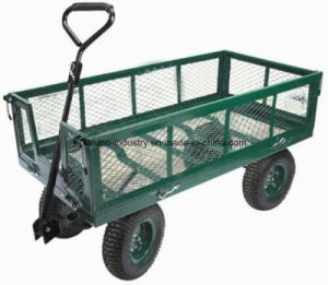 High Quality 700kgs Capacity Steel Mesh Utility Tool Cart/Garden Cart (TC1840) pictures & photos