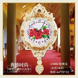 European Creative Wall Clocks Hot Sale Luxury Diamond Clock Wall Clock for Home Wall Decor (AS006) pictures & photos
