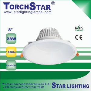 High End 28W 8 Inch COB LED Ceiling Light LED Downlight with 3 Year Warranty