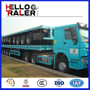 40FT Flatbed Vehicle and Trailer for Sale pictures & photos