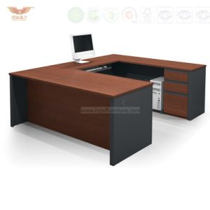 Fsc Certified Wooden Veneer Computer Table (HY-NO6) pictures & photos
