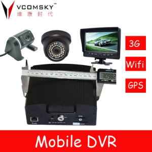 4CH Mobile Car DVR Support 4 Camera, Car Video Recorder pictures & photos