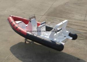 China Aqualand 20feet 6.2m Rib Motor Boat/Rigid Inflatable Fishing Boat/Speed Boat/Rescue/Patrol (rib620d) pictures & photos