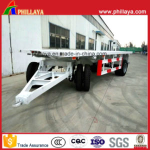 Truck Trailer Drawbar Towing Full Trailer / Cargo Dolly Trailer pictures & photos