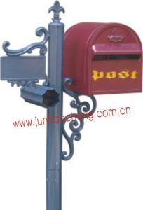 Aluminum Red Post Mounted Mail Box (JHC-11022)