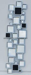 Silver and Black Art Mirror (11GJ021)