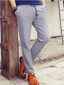 China Men′s Newest Hot Slim Fit Linen Pants - China Slim Fit Pants ...