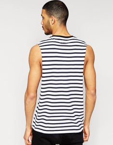 Custom High Quality Mens Black and White Stripe Top pictures & photos