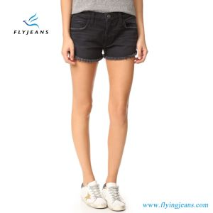 Fashion Ladies Black Skinny Denim Short by Manufacturer pictures & photos