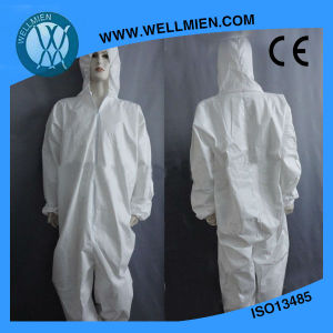 Disposable Safety Blue Coverall/SMS Coverall/PP+PE Coverall/Overall pictures & photos