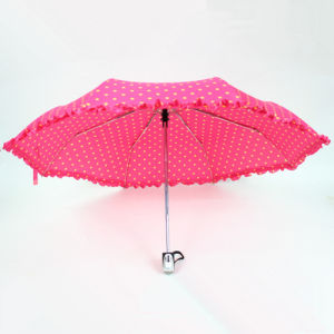 Print Fabric Auto Open and Close Umbrella for Girls