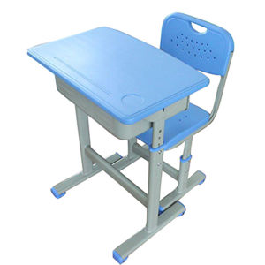 Lb-02 Height Adjustable Single Seat School Desk for Sale pictures & photos