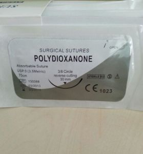 Polydioxanone Surgical Suture Thread, Pdo Suture USP5/0 pictures & photos