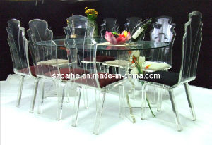 Acrylic Waved Shape Dining Table (CT903)