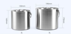 Stainless Steel Double Wall Ice Bucket with Lid (JX-039) pictures & photos