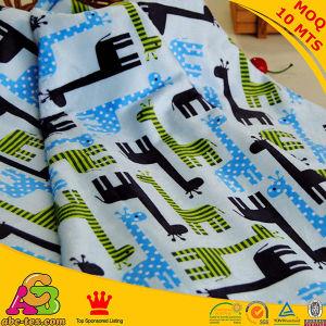 Giraffee Design Minky Digital Printing Fabric