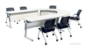 Folding Aluminum Foot Conference Table, Multi Shape Foldable Meeting Desk (HD-02) pictures & photos