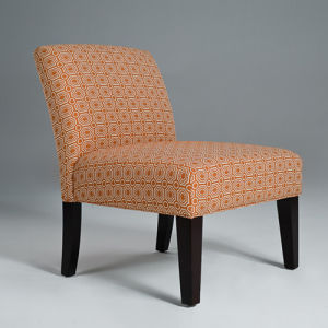 Orange Linen Fabric Accent Chair Hotel Chair (GK8001)