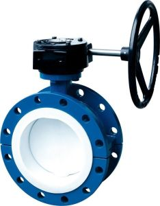 Butterfly Valve PTFE Lining Double Flange Type pictures & photos