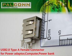 Large Current~4A! USB2.0 Type a Female Connector for Power Adaptor, Power Bank pictures & photos