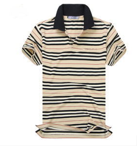 Men′s Fashion Yarn Dyed Polo Shirt (CT-T048)