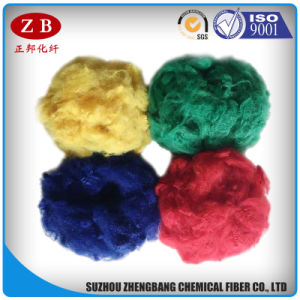 7D*76mm Regenerated Polyester Staple Fiber Raw Materials for Non-Woven Carpets