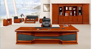 2015 New Design! (HY-Hongye No. 8) Teak Wood Executive Office Table China Manufacturer Office Furniture