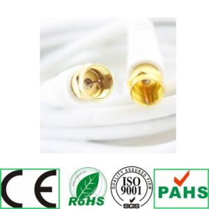 Coaxial Cable Black& White F Plug to F Plug Rg59u Coaxial Cable (SY098) pictures & photos