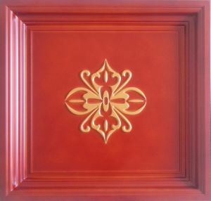 Gold FRP Tile Look 3D Waterproof Wall Panel pictures & photos