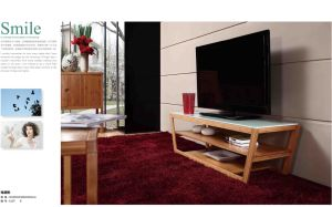 Carbonozed Vertical Solid Bamboo Trapezoidal TV Table pictures & photos