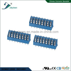 PCB Screw Terminal Blocks Pitch 5.0mm 8p 15A with Blue Housing pictures & photos