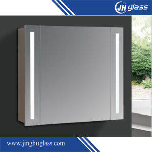 MDF Bathroom Cabinet with LED Mirror for Decoration pictures & photos