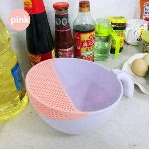 2in1 Kitchen Plastic Fruits/Vegetables Washing Basket with Strainer Rice Washing Basket with Colanders and Handle pictures & photos