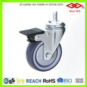 100mm Ball Bearing Rubber Wheel Caster (L111-34E100X30S) pictures & photos