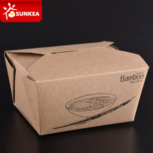 Take out Kraft Paper Box for Food pictures & photos
