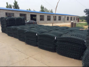 Galvanized and PVC Coated Gabion Basket pictures & photos