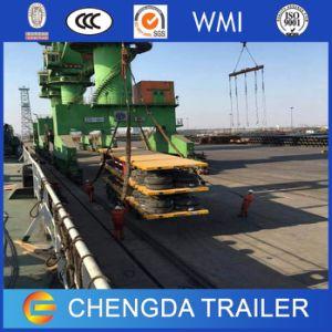 Utility Truck Trailer 40FT Gooseneck Flatbed Container Cargo Semi Trailer pictures & photos
