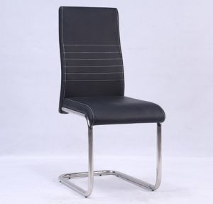 PU Leather Dining Chair with Chromed Leg pictures & photos