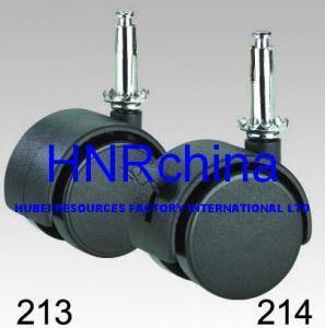 Black Nylon Twin Wheel Swivel Stem Socket Top Caster pictures & photos