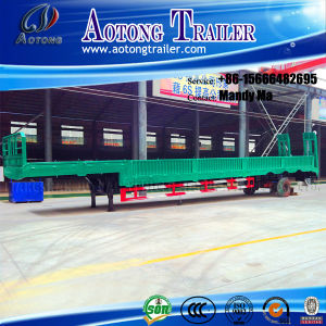 3 Axles Cargo Lowbed Semi Trailer pictures & photos