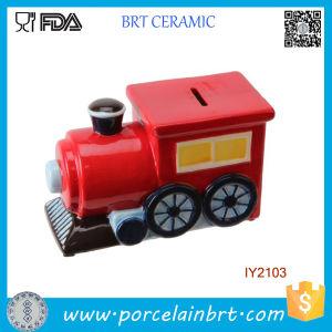 Creative Decoration Steam Train Ceramic Money Box pictures & photos
