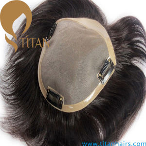 New Customized 100% Remy Human Hair Toupee pictures & photos