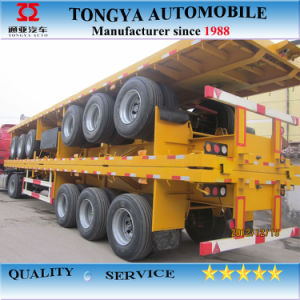 3 Axle Flatbed Trailer Truck pictures & photos