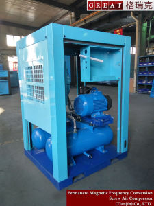 Belt Driven  Lubricated Screw Air Compressor with Air Tank pictures & photos
