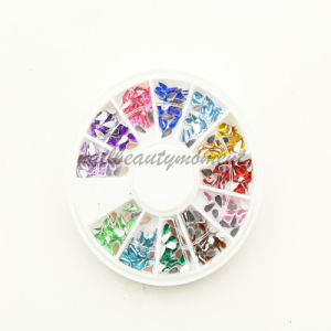 Nail Art Beauty Teardrop Shape Rhinestone Decoration Wheel (D15) pictures & photos