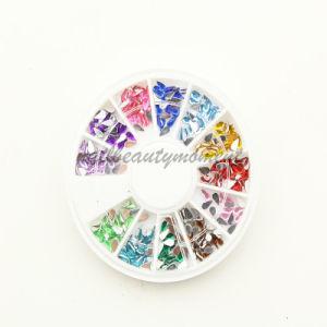 Nail Art Beauty Teardrop Shape Rhinestone Decoration Wheel (D15)
