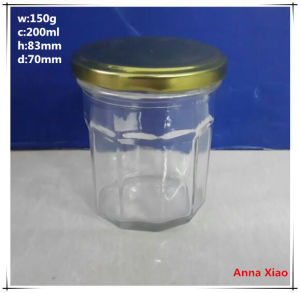 200ml Hexagonal Glass Jars on Sale pictures & photos